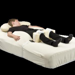 Symmetrisleep with model full shot with knee brace